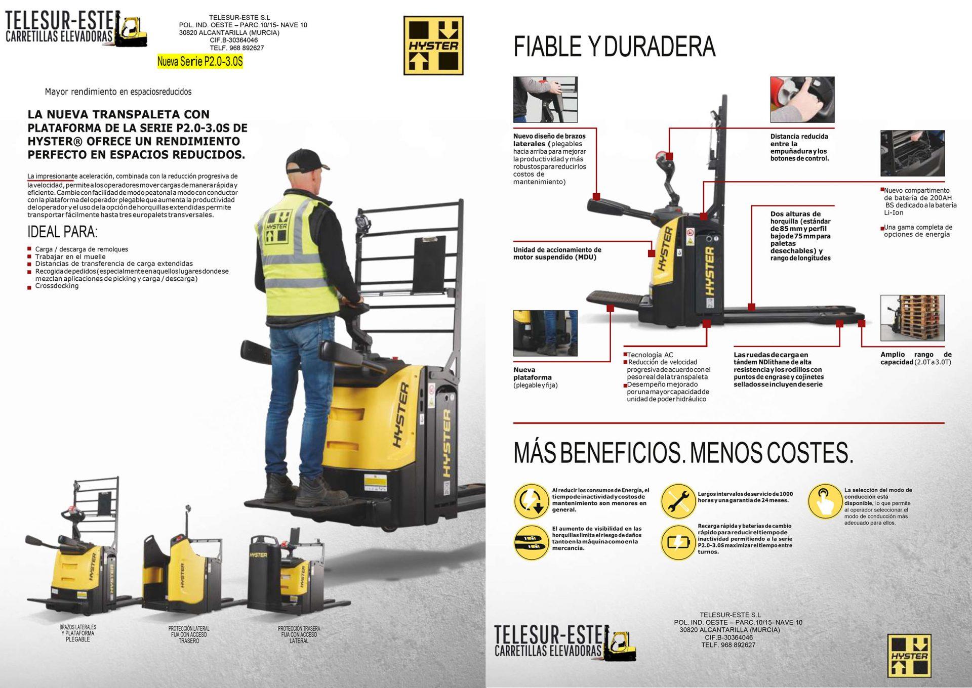 Catálogo nueva Hyster P2.0-3.0S